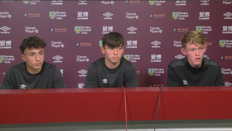 Chris Conn-Clarke (centre) at the youth press conference
