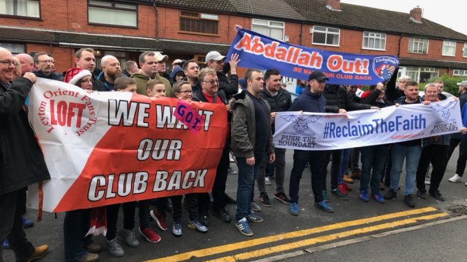 Oldham Fan Protest