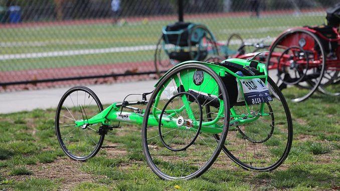 A racing wheelchair.