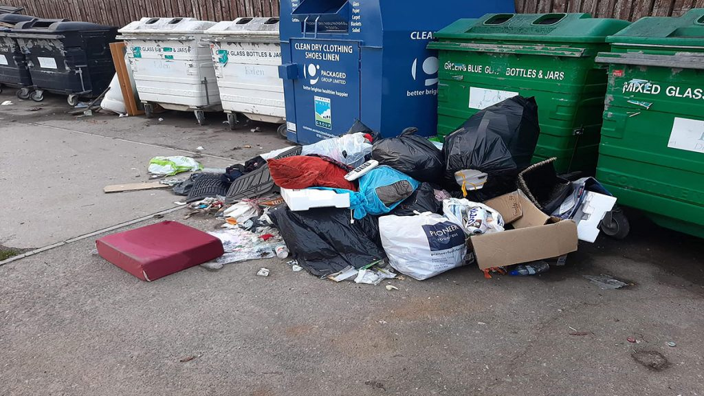 Plumpton recycling centre fly tipping. Credit - Elaine Martin