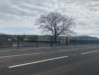 Plumpton recycling centre closed with gates preventing entry. Credit - Charlotte Everett