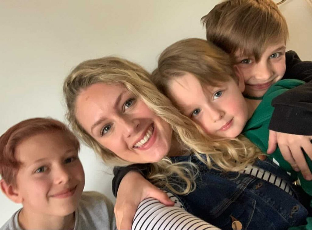 Lauren McGuinness with her three sons.
